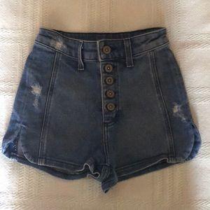 High rise carmar shorts